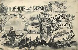 Themes Div -ref X162- Regiments - Militaires Militaria - Regiment Marine De Guerre -5e Depot Equipages De La Flotte - Guerre