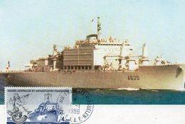 Saint Paul Et Amsterdam Aviso Eure Carte Maxi 1987 - Tierras Australes Y Antárticas Francesas (TAAF)