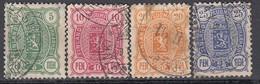 FINNLAND 1889  MiNr: 28-31  Used - Gebraucht