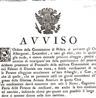 Milano Occupazione Austro Russa, Avviso Per Osti,Locandieri Albergatori Di Esatta Notificazione Di Alloggiati. 1799 - Decreti & Leggi