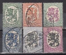 FINNLAND 1925  MiNr: 112 - 125 Lot 6x  Used - Gebraucht