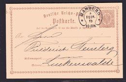 Hufeisen-St Hamburg 17-7 Auf DR-Ganzsache P1 . - Germany