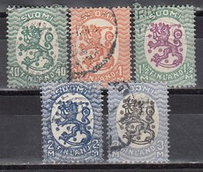 FINNLAND 1927  MiNr: 128-137  Lot 5x  Used - Used Stamps