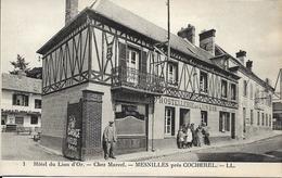 Cpa Mesnilles Près Cocherel, Hostellerie Du Lion D'or, Garage, Chez Marcel, Animée - Other Municipalities