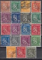FINNLAND 1930  MiNr: 143-266  Lot 19x  Used - Gebraucht