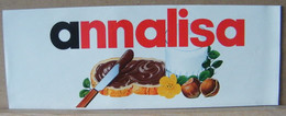 MONDOSORPRESA, ADESIVI NUTELLA NOMI, ANNALISA - Nutella