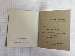 18F - Carte Stéphane Scaillet Luvirunza Burundi 1964 - Birth & Baptism