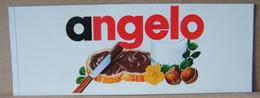 MONDOSORPRESA, ADESIVI NUTELLA NOMI, ANGELO - Nutella