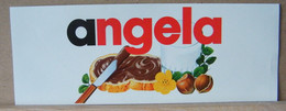 MONDOSORPRESA, ADESIVI NUTELLA NOMI, ANGELA - Nutella