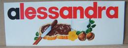 MONDOSORPRESA, ADESIVI NUTELLA NOMI, ALESSANDRA - Nutella
