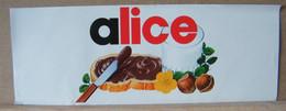 MONDOSORPRESA, ADESIVI NUTELLA NOMI, ALICE - Nutella