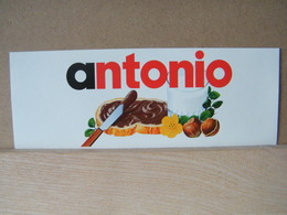 MONDOSORPRESA, ADESIVI NUTELLA NOMI, ANTONIO - Nutella