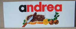 MONDOSORPRESA, ADESIVI NUTELLA NOMI, ANDREA - Nutella