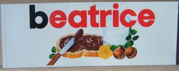 MONDOSORPRESA, ADESIVI NUTELLA NOMI, BEATRICE - Nutella