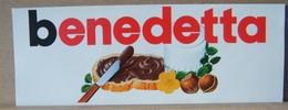 MONDOSORPRESA, ADESIVI NUTELLA NOMI, BENEDETTA - Nutella