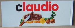 MONDOSORPRESA, ADESIVI NUTELLA NOMI, CLAUDIO - Nutella