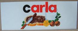 MONDOSORPRESA, ADESIVI NUTELLA NOMI, CARLA - Nutella