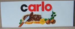 MONDOSORPRESA, ADESIVI NUTELLA NOMI, CARLO - Nutella