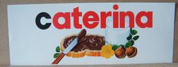 MONDOSORPRESA, ADESIVI NUTELLA NOMI, CATERINA - Nutella