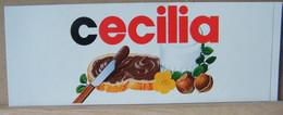 MONDOSORPRESA, ADESIVI NUTELLA NOMI, CECILIA - Nutella