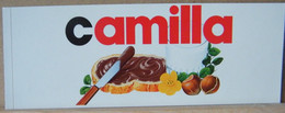 MONDOSORPRESA, ADESIVI NUTELLA NOMI, CAMILLA - Nutella