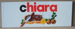 MONDOSORPRESA, ADESIVI NUTELLA NOMI, CHIARA - Nutella