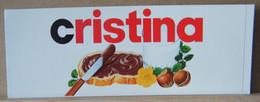 MONDOSORPRESA, ADESIVI NUTELLA NOMI, CRISTINA - Nutella