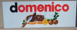 MONDOSORPRESA, ADESIVI NUTELLA NOMI, DOMENICO - Nutella