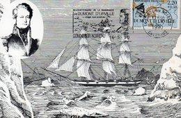 Terre Adelie Bi Centenaire De Dumont Durville Oblitération  Condé/sur/Noireau  Expo - Terres Australes Et Antarctiques Françaises (TAAF)