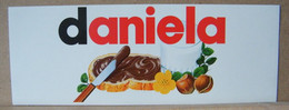 MONDOSORPRESA, ADESIVI NUTELLA NOMI, DANIELA - Nutella