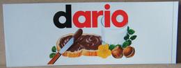 MONDOSORPRESA, ADESIVI NUTELLA NOMI, DARIO - Nutella