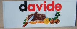 MONDOSORPRESA, ADESIVI NUTELLA NOMI, DAVIDE - Nutella