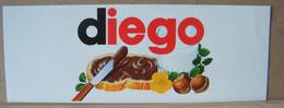 MONDOSORPRESA, ADESIVI NUTELLA NOMI, DIEGO - Nutella