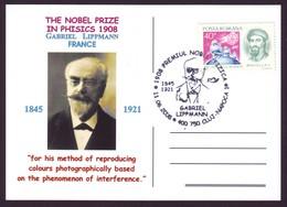 2008 Tribute To Gabriel Lippmann, Physics Nobel Prize Centennial Philatelic Postcard - Physik