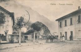 T.953.  CORNA - Bergamo - Piazzale Stazione - 1912 - Italia