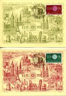 EUROPA CEPT 1960 CARTE MAXIMUM YVERT Nº 1266/1267 - 1960