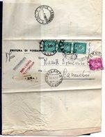 ##(DAN185)-1967- Piego Raccomandato Tassa A Carico Assolta Con  L.170 Segnatasse Da Pallanza Per  Cannobbio - 1961-70: Marcophilie