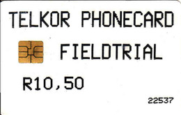 South Africa TELKOR FIELDTRIAL R10,50 - SAF-TE - 2, Reverse Of The Card Is Blank, Chip, - Afrique Du Sud