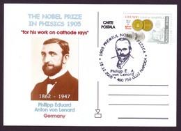 2005 Tribute To Philipp Lenard, Physics Nobel Prize Winner Philatelic Postcard - Physik