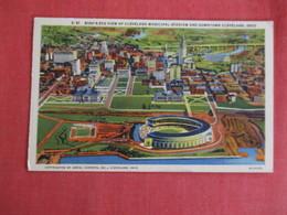 > Birds Eye View Municipal Stadium    Cleveland   Ohio >  - Ref 2958 - Cleveland