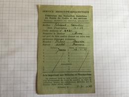 18F - Carte Dubois Morlanwelz Service Pharmaceutique Maison Du Peuple Jolimont - Vieux Papiers