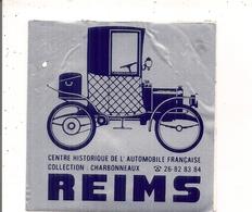 Autocollant  -   REIMS  Centre Historique De L'Automobile Française Collection Charbonneaux - Autocollants