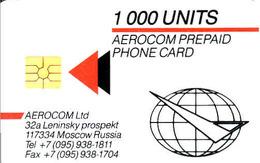 Russia Aerocom Prepaid Chip Card, 1000 Units - Russie
