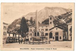 Suisse - Bellinzona - Plazza Indipendenza E Chiesa S. Rocco - Switzerland