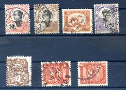 Indochine - Lot De 7 Timbres Oblitérés LAOS - (A136A) - Used Stamps