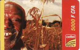BURKINA FASO, RECHARGE Celtel Card 5000 FCFA, - Burkina Faso