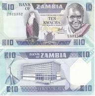 Zambia - 10 Kwacha 1986 - 1988 UNC Pick 26d Ukr-OP - Sambia