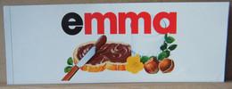 MONDOSORPRESA, ADESIVI NUTELLA NOMI, EMMA - Nutella
