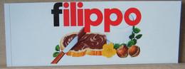 MONDOSORPRESA, ADESIVI NUTELLA NOMI, FILIPPO - Nutella