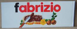 MONDOSORPRESA, ADESIVI NUTELLA NOMI, FABRIZIO - Nutella